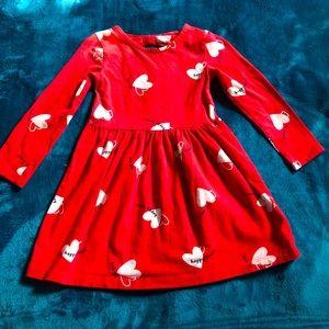 Carter's Happy Heart Dress 3T